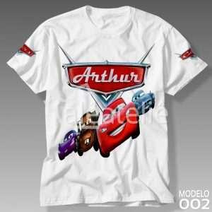 Camiseta Carros Disney Personalizada