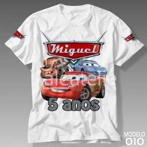 Camiseta Carros Disney 010