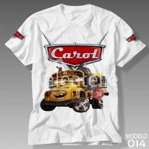 Camiseta Carros Disney Maria Busão