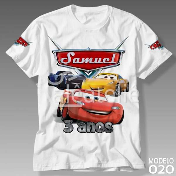 Camiseta Carros 3