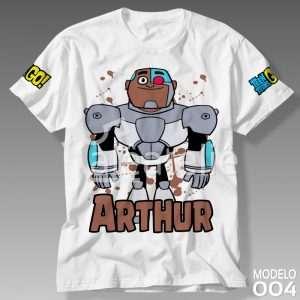 Camiseta Jovens Titans Cyborg