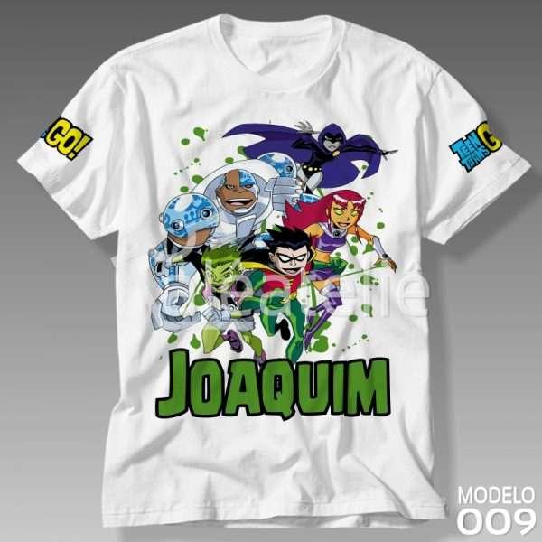 Camiseta Jovens Titans Personalizada