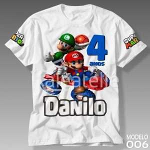 Camiseta Super Mario Personalizada