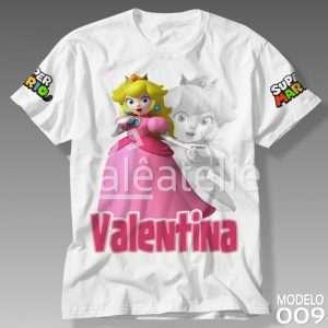 Camiseta Princesa Peach Personalizada