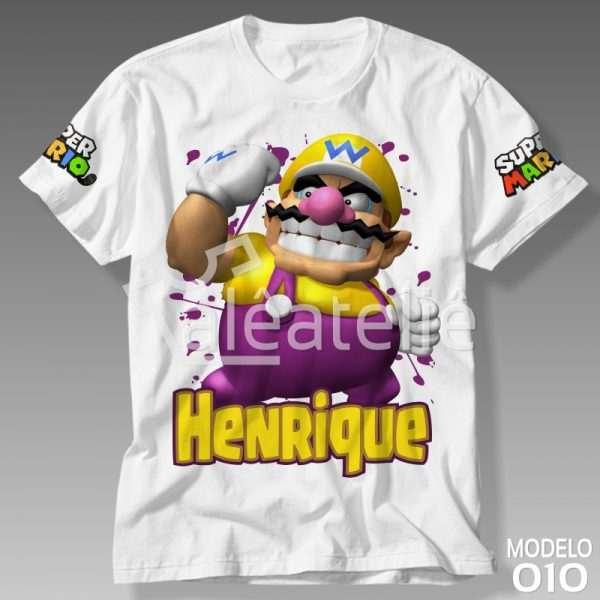 Camiseta Wario Personalizada