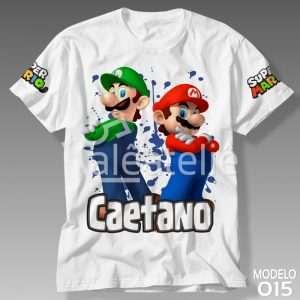 Camiseta Mario Luigi Personalizada