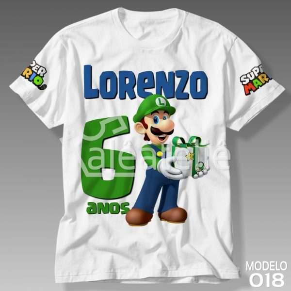 Camiseta Luigi Aniversario