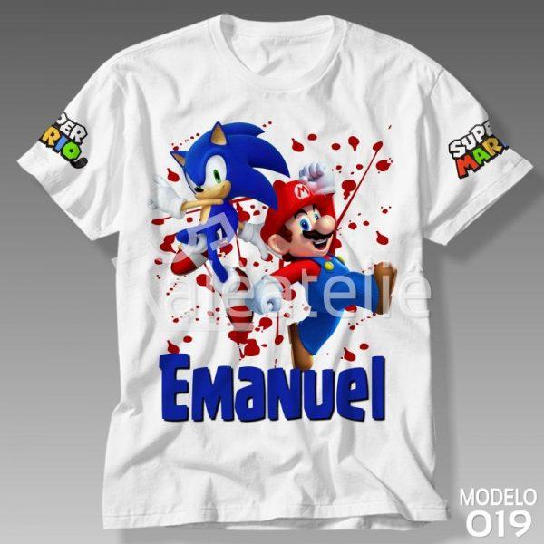Camiseta Super Mario Sonic