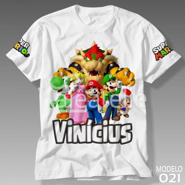 Camiseta Mario Bros Personalizada