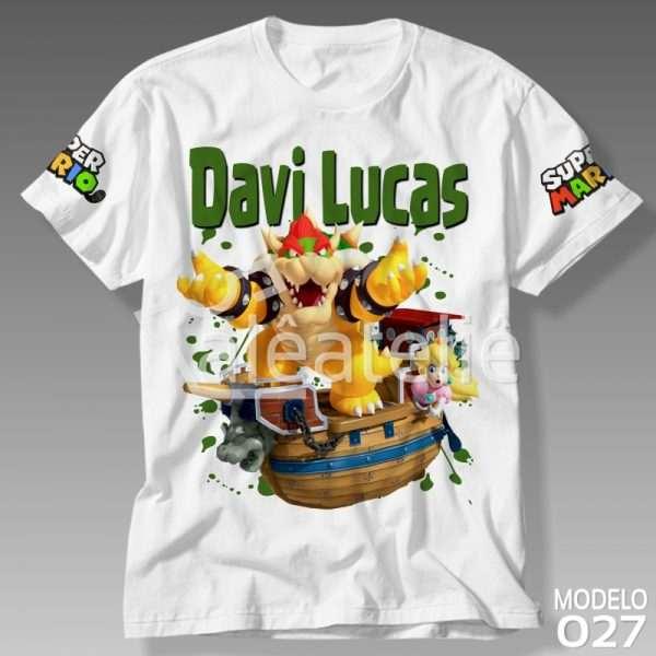 Camiseta Mario Bowser Personalizada