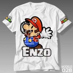 Camiseta Super Mario Bros Personalizada