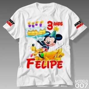 Camiseta Mickey Aniversário