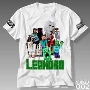 Camiseta Minecraft Personalizada