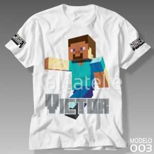 Camiseta Minecraft Steve