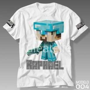 Camiseta Minecraft Infantil