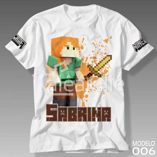 Camiseta Minecraft Feminina