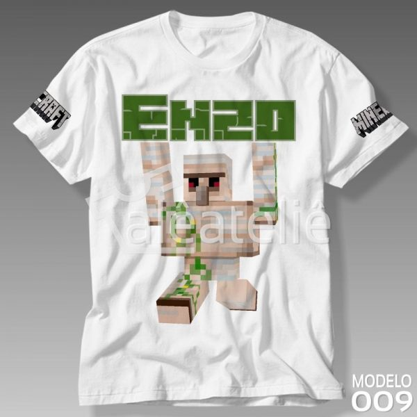 Camiseta Minecraft Iron Golem