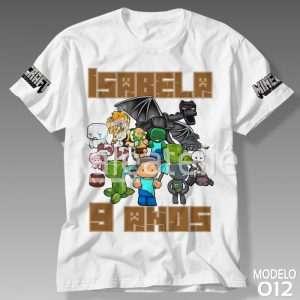 Camiseta Minecraft Festa