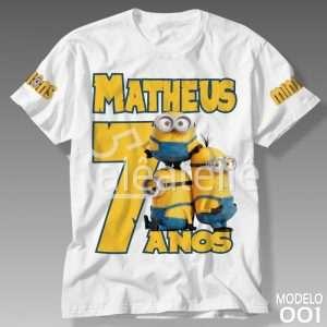 Camiseta Minions Aniversário