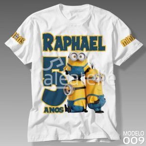 Camiseta Personalizada Minions Aniversário