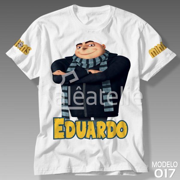 Camiseta Minions Gru Personalizada