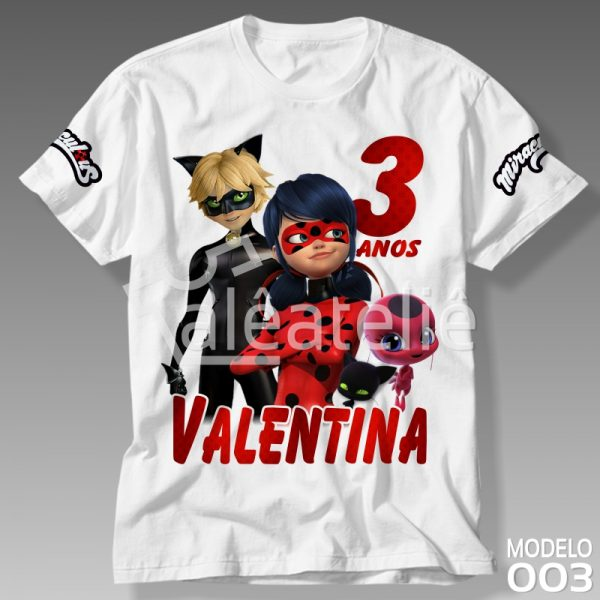 Camiseta Ladybug Cat Noir