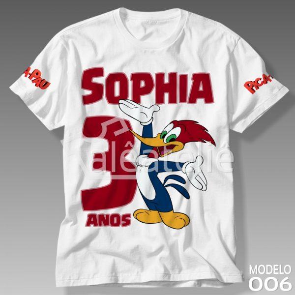 Camiseta Personalizada do Pica Pau