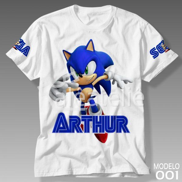 Camiseta Sonic Personalizada