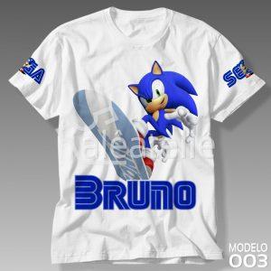Camiseta Personalizada Sonic