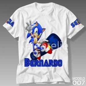 Camiseta do Sonic Personalizada