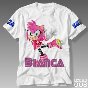 Camiseta Amy Rose Sonic