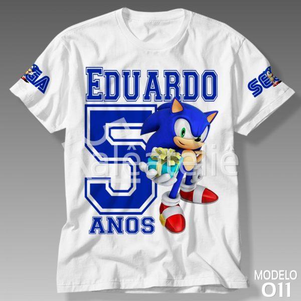 Camiseta Sonic Aniversário