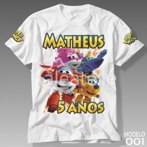 Camiseta Super Wings Personalizada