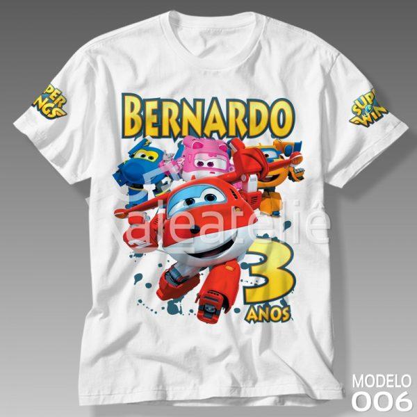 Camiseta Personalizada Super Wings