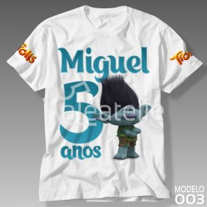 Camiseta Trolls Personalizada