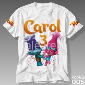 Camisa Trolls Personalizada
