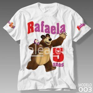 Camiseta Masha Urso Festa