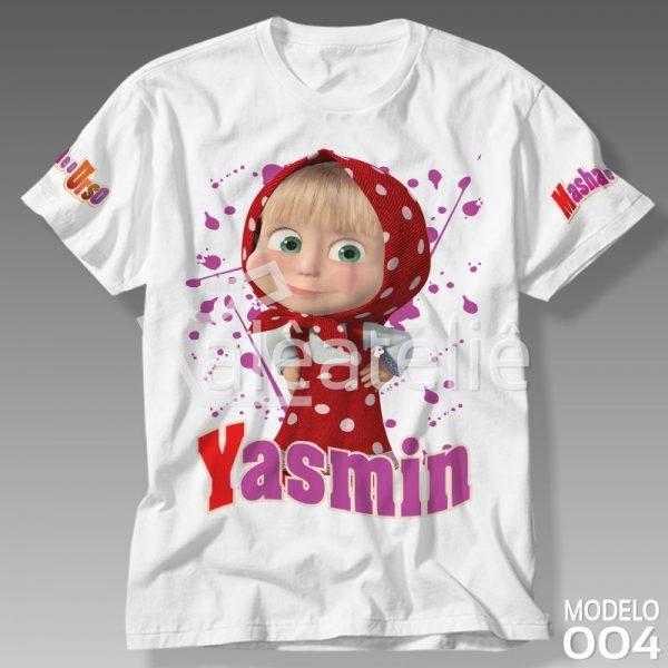 Camiseta Personalizada Masha Urso