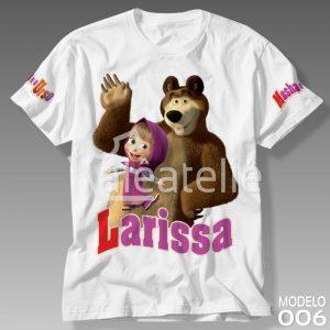 Blusa Masha e o Urso Personalizada