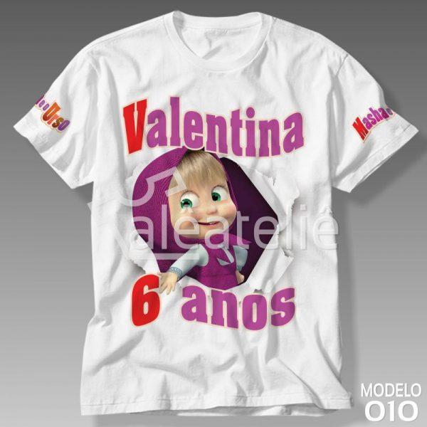 Camiseta Masha Urso Festa Aniversario