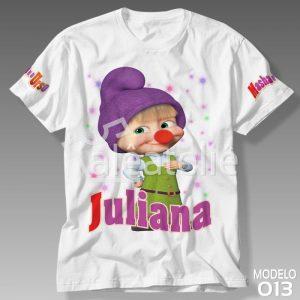Camiseta Masha e Urso 013
