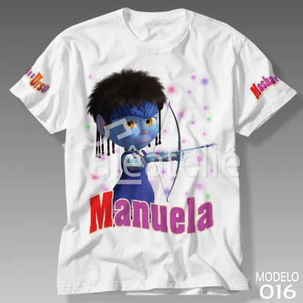 Camiseta Masha Urso Avatar