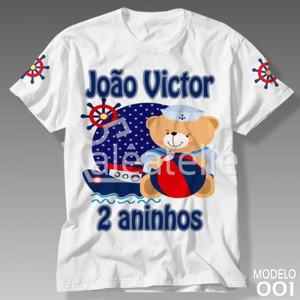 Camiseta Ursinho Marinheiro