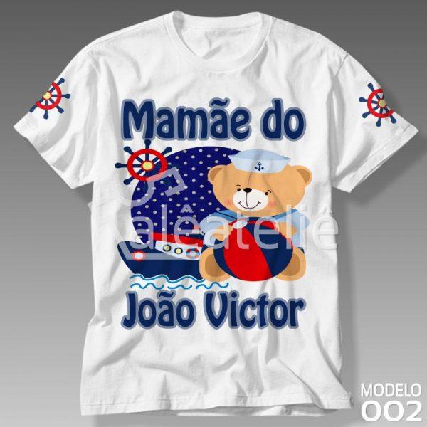 Camiseta Personalizada Urso Marinheiro