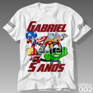 Camiseta Vingadores 002