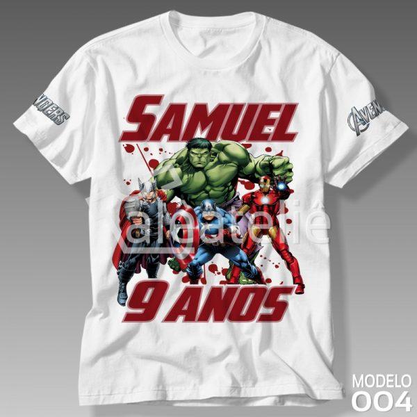 Camiseta Vingadores Festa