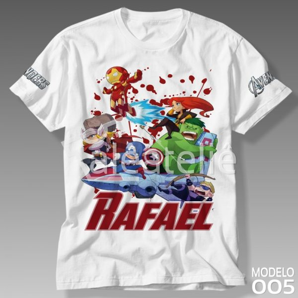 Camiseta Vingadores Customizada