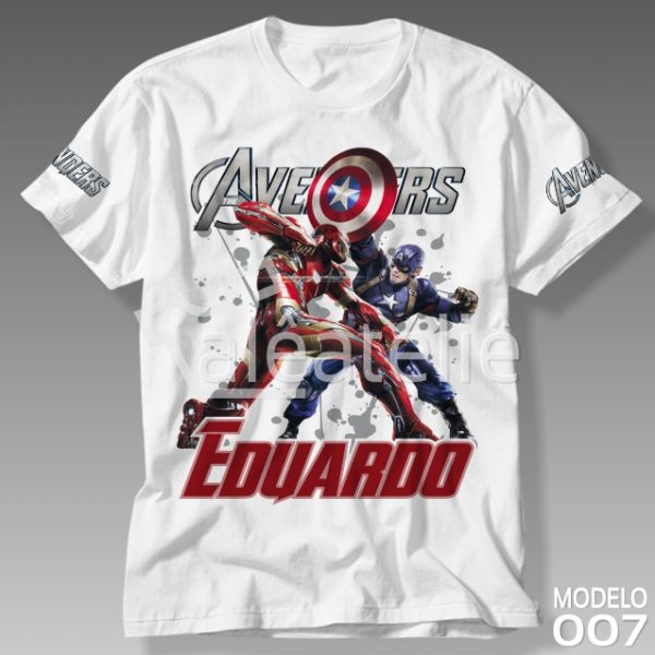 Camiseta Vingadores Guerra Civil