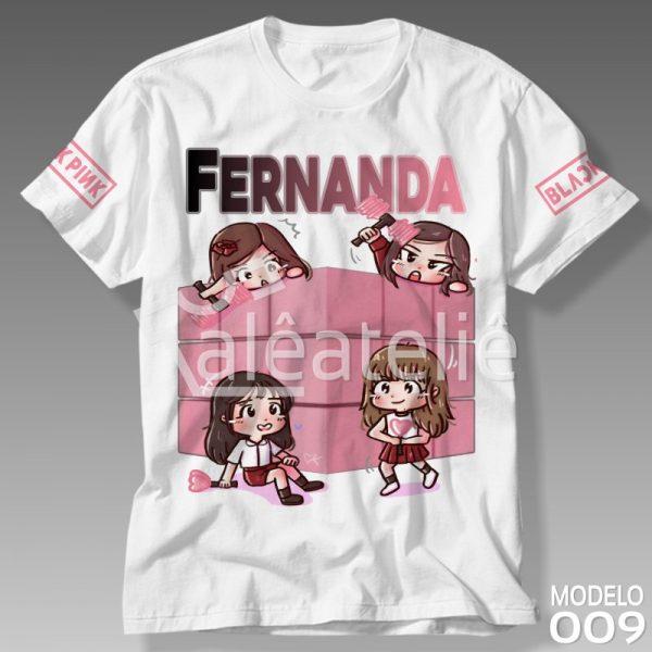 Camiseta Black Pink Rose