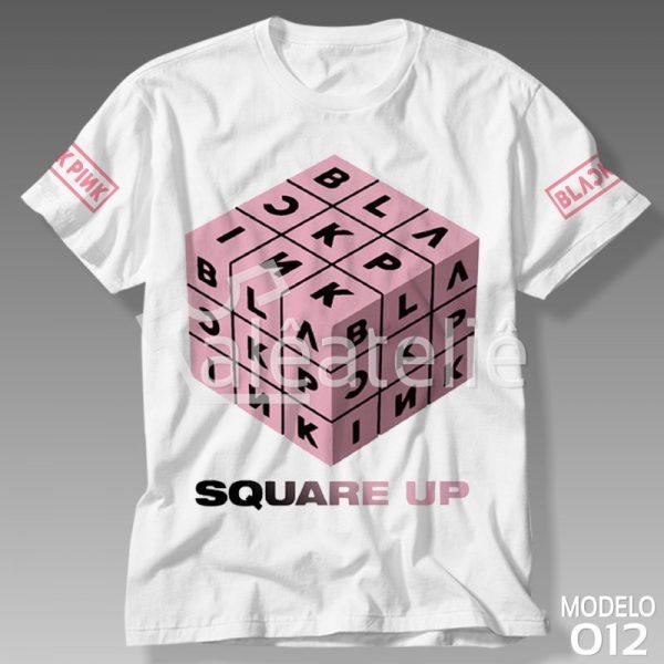 Camiseta Black Pink Square Up